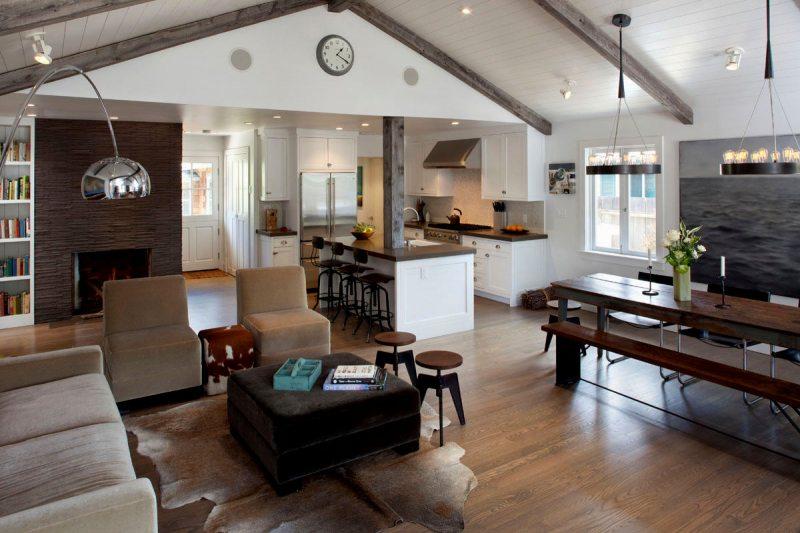 гостиная в американском стиле фото дизайн