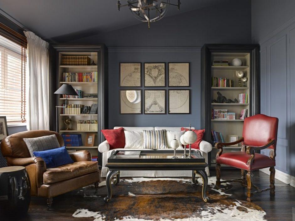 гостиная в американском стиле идеи дизайн