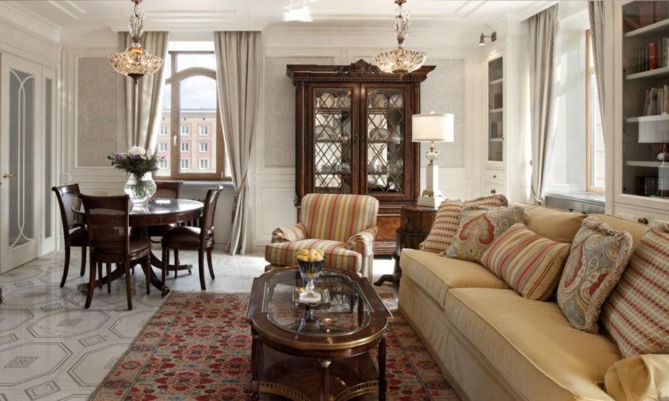 гостиная в американском стиле интерьер фото