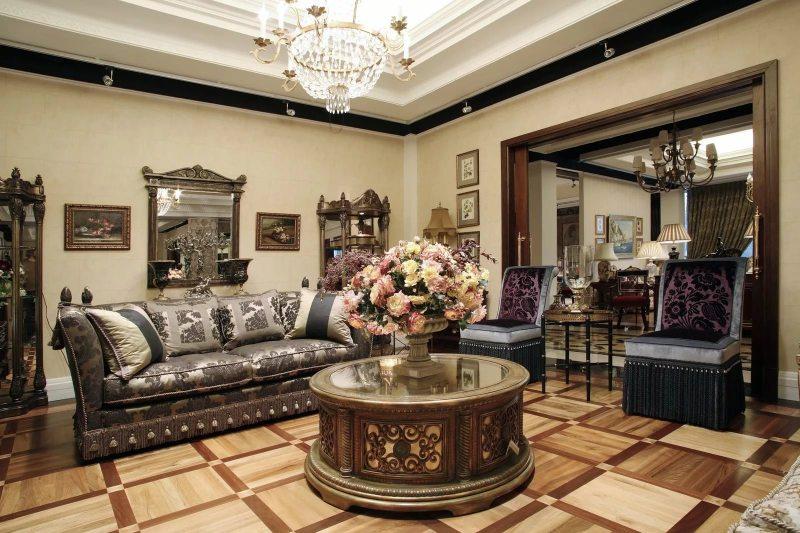 гостиная в американском стиле интерьер