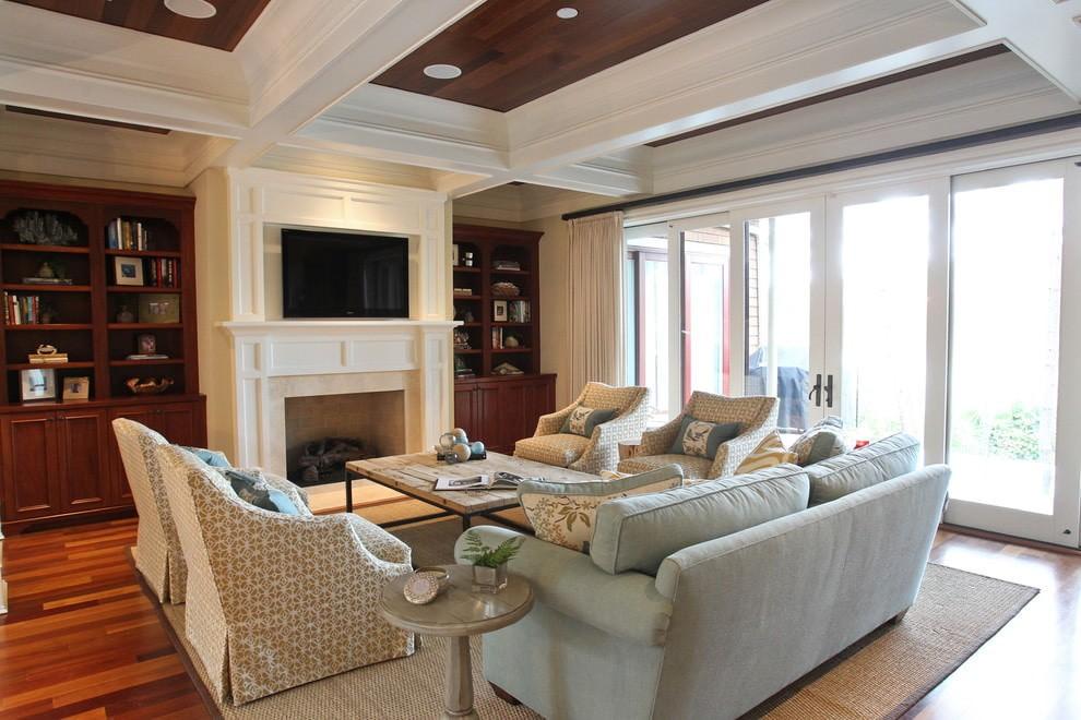 гостиная в американском стиле мебель