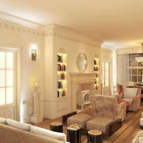 гостиная в английском стиле фото дизайна