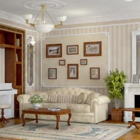 гостиная в английском стиле идеи дизайн