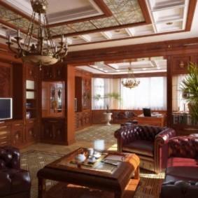 гостиная в английском стиле идеи дизайна