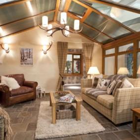 гостиная в английском стиле декор фото