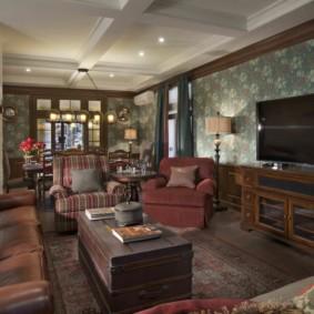 гостиная в английском стиле идеи декора