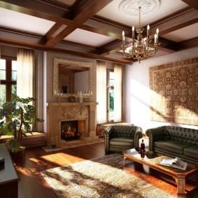 гостиная в английском стиле интерьер фото