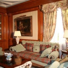 гостиная в английском стиле фото идеи
