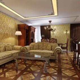 гостиная в английском стиле фото оформления