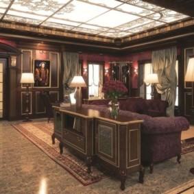 гостиная в английском стиле дизайн