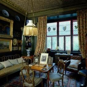 гостиная в английском стиле варианты фото