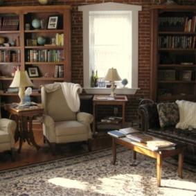гостиная в английском стиле дизайн фото