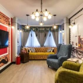 гостиная в английском стиле виды дизайна