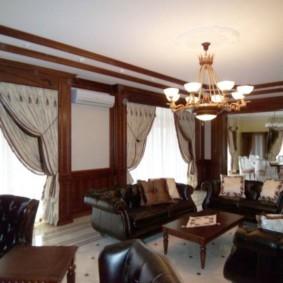 гостиная в английском стиле виды декора