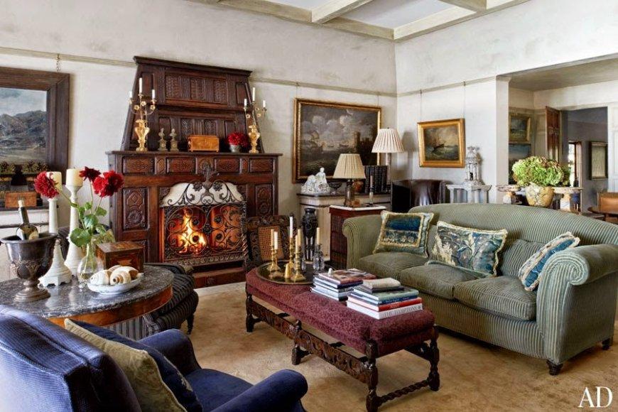 гостиная в английском стиле декор идеи