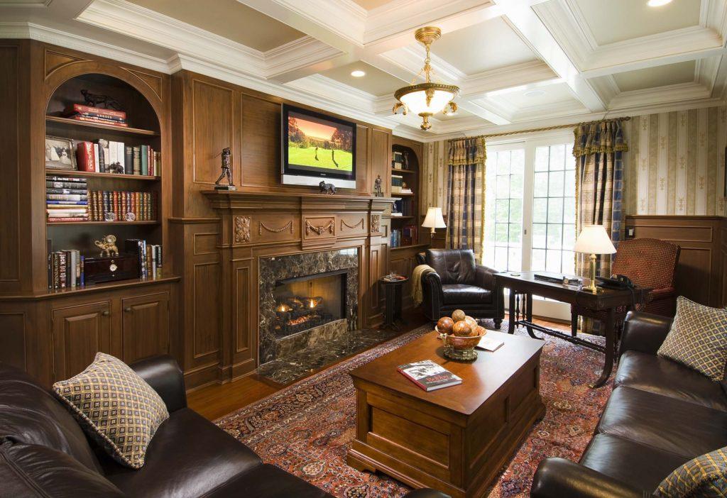 гостиная в английском стиле декор