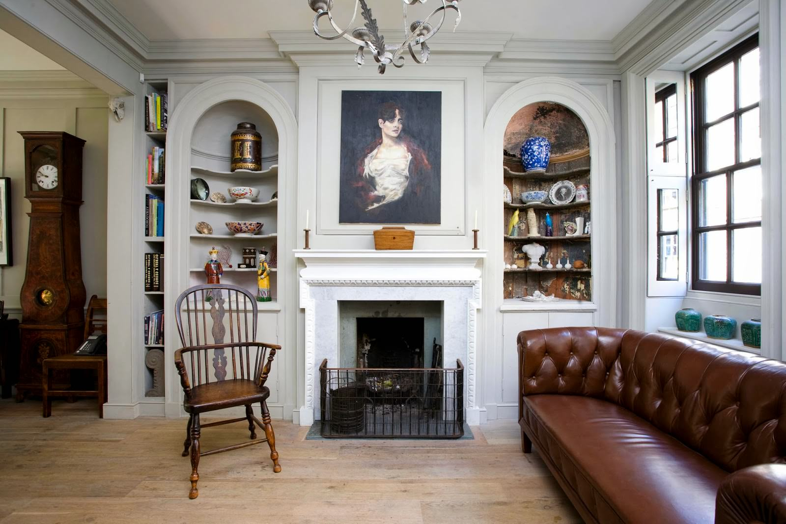 гостиная в английском стиле фото декор
