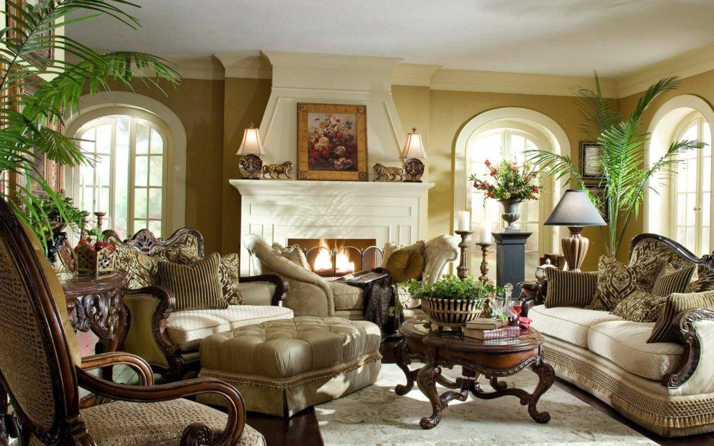 гостиная в английском стиле фото декора
