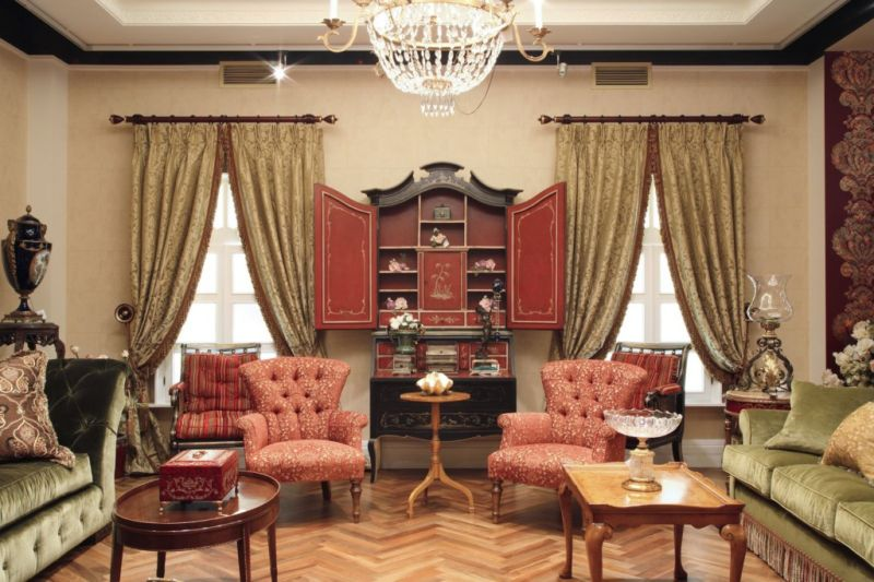гостиная в английском стиле фото дизайн