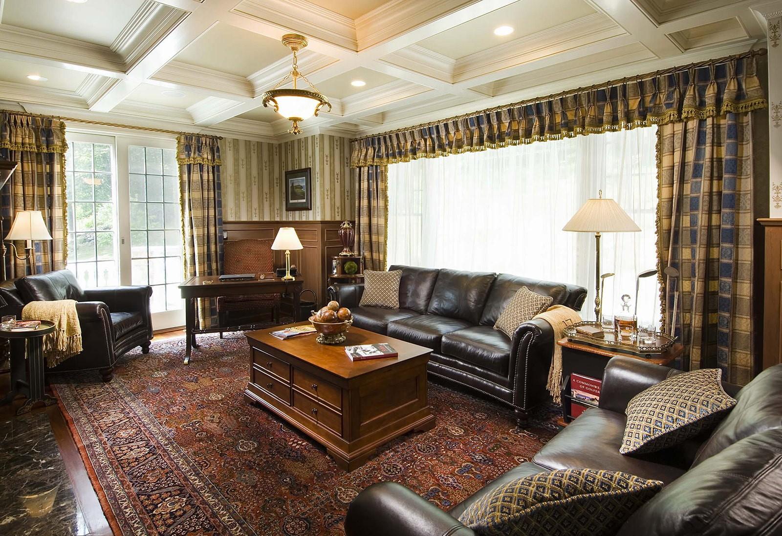 гостиная в английском стиле фото интерьера