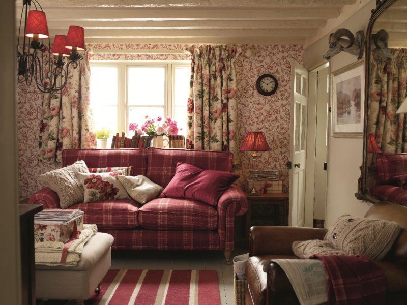 гостиная в английском стиле интерьер