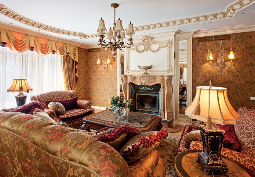 гостиная в английском стиле мебель
