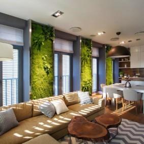 Эко-стиль в оформление интерьера частного дома