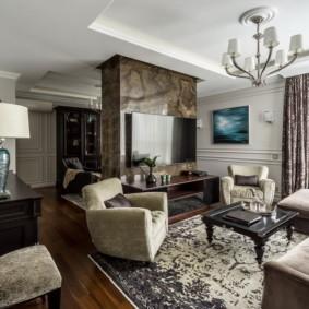 Оформление зоны отдыха в современной гостиной
