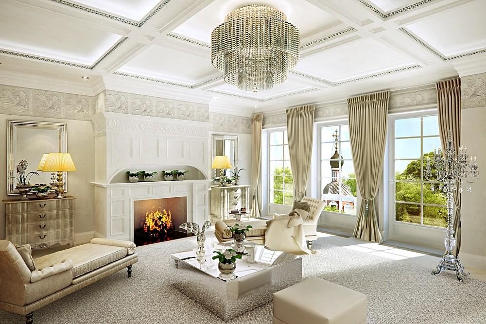 гостиная в классическом стиле фото идеи