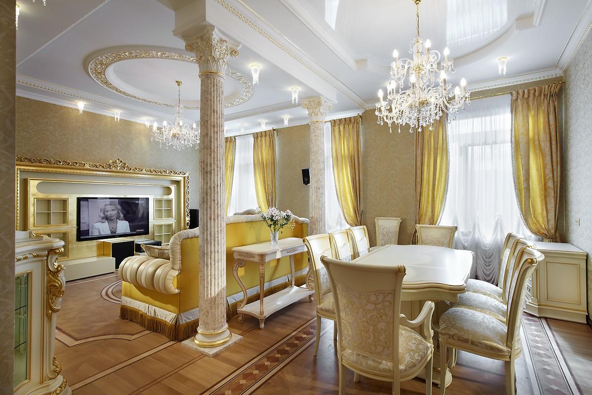 гостиная в классическом стиле красивые фото