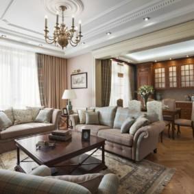 гостиная в классическом стиле интерьер фото
