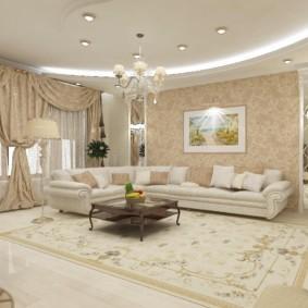 гостиная в классическом стиле фото интерьер