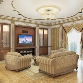 гостиная в классическом стиле идеи дизайна