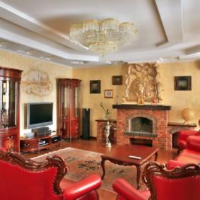 гостиная в классическом стиле декор