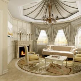 гостиная в классическом стиле фото интерьера
