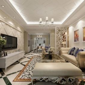 гостиная в классическом стиле декор фото