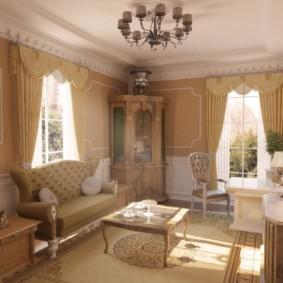 гостиная в классическом стиле фото декора