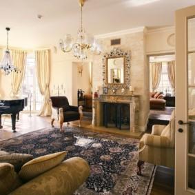 гостиная в классическом стиле идеи декор