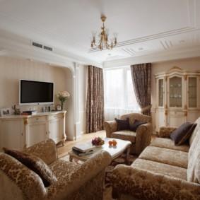 гостиная в классическом стиле идеи декора