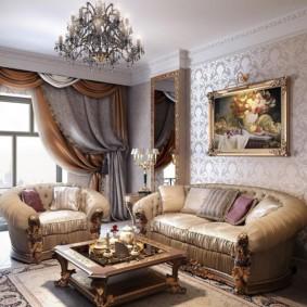 гостиная в классическом стиле идеи интерьер