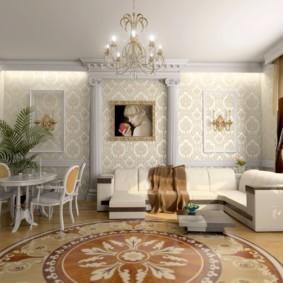 гостиная в классическом стиле оформление идеи