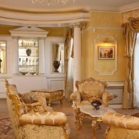 гостиная в классическом стиле дизайн