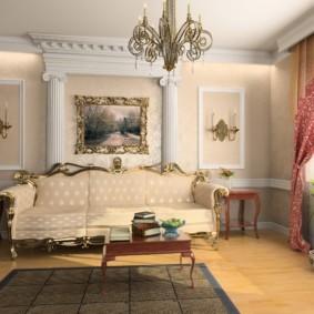 гостиная в классическом стиле идеи оформление