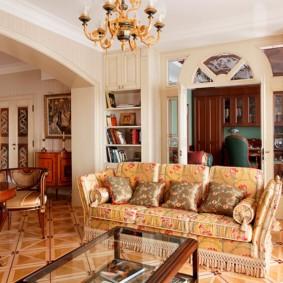 гостиная в классическом стиле дизайн фото