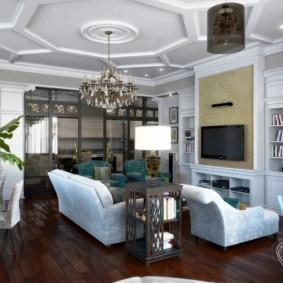 гостиная в классическом стиле варианты
