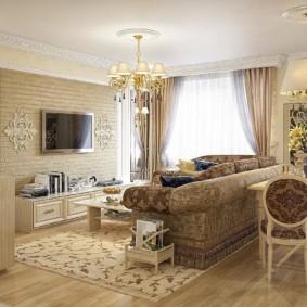 гостиная в классическом стиле варианты фото