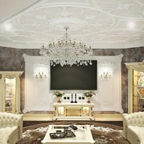гостиная в классическом стиле фото варианты