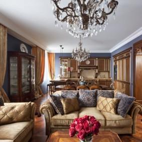 гостиная в классическом стиле фото дизайн