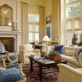 гостиная в классическом стиле фото вариантов