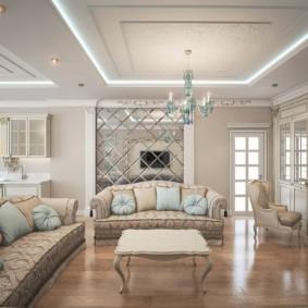 гостиная в классическом стиле идеи варианты